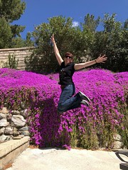 102/365 (boxbabe86) Tags: superbloom 10secondtimer selftimed timer purple backyard iphone8plus jump shadowpines action flowers april friday 365days days102