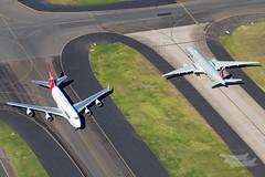 VH-OEJ QF B747 A7-BEP QR B77W YSSY-2506 (A u s s i e P o m m) Tags: qantas qf qatarairways qatar qr newsouthwales australia au boeing b747 b77w syd yssy air2air a2a queenoftheskies b747400er b747er
