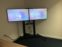 "Dual Screen Floor Stand with 2x 32 Inch TV Installed for Conference Room: Larkfield, Kent. • <a style=""font-size:0.8em;"" href=""http://www.flickr.com/photos/161212411@N07/32075715407/"" target=""_blank"">View on Flickr</a>"