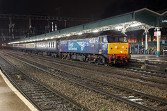 End of a long day (daveymills37886) Tags: drs 57002 newport blue boys loco fest blackpool north direct rail services class 57 570