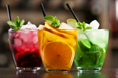 Glasses of cocktails on bar background (lung-hui.chung) Tags: abstract addiction alcohol alcoholic background backgroundgreen bar berry beverage blur blurred blurredbackground celebrate celebration celebrationbackground cherry cocktail cocktailglass color colorbackground colorfulbackground colorfulbackgrounds copy cube dark darkbackground delicious drink drinker flavor glass glasstexture gourmet green greenabstract greenabstractbackground greenbackground greenbackgrounds greenleaf ice icebackground icetexture leaf leavesbackground lemon lime mint orange orangebackground party partybackground red redabstract redbackground redbackgrounds sliced slices space spacebackground straw sweet taste tasty text texture three tube