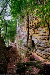 "Mullerthal-Trail E1: ""Gorge du Loup"" (The wolves' canyon) (Robert GLOD (Bob)) Tags: canyon echternach gorge gorgeduloup lu loup mullerthal mullerthaltrail wolves wolvescanyon construction europe forest landforms landscape landscapes luxembourg rocks stairs stairway trail tree berdorf"
