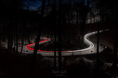 LED-Horseshoe (TomGeli) Tags: europe red time light outside out photography street dark 6d fast germany licht laser lasersword canon long exposure