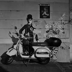 Chaplin (naromeel) Tags: paris france bw graffiti
