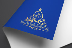 Distributing company logo (princeface08) Tags: luxury modern versatile vintage heraldic royal monogram retro crest brandlogo businesslogo elegant