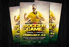 Soccer game flyer (amziz8457) Tags: ball championship club competition cup design download flyer football game goal graphic league play player poster soccer sport stadium team template tournament