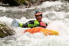 In the Rapids (Ronda Hamm) Tags: 100400mkii 7dii greatsmokymountainsnationalpark littlepigeonriver action canon kayak man rapids sport water