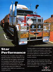 2005 Western Star Constellation Series 4900 Truck Aussie Original Magazine Advertisement (Darren Marlow) Tags: 2 4 5 9 20 2005 w western s star t truck r rig semi h hauler c cool collectible collectors classic a automobile v vehicle u us usa united states american america 00s constellation seris 4900