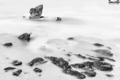 Good day at black and white rock (danielfi) Tags: aguilar playa beach mar sea costa coast roca rock black white blanco negro larga exposición long exposure ngc asturias asturies marina caballar peña naturaleza nature seascape paisaje