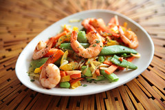 IMG_2383 copie (camille.tahar) Tags: shrimp asian wok crevette asiatique edamame
