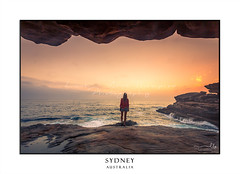 Foggy sunrises on the sea coast of Sydney Australia (sugarbellaleah) Tags: female coast sunrise waves ocean seaside rock sandstone cliffs sunlight weathered eroded surf sea woman person watching looking summer outdoor active morning orange yellow foggy weather sydney australia amazing wonderful beauty nature eastcoast blonde observation serenity peace peaceful relaxation leisure awe quiet calming wellbeing