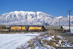 Back to Back SW10s (jamesbelmont) Tags: unionpacific ypv51 emd sw10 mtcascade wasatchmountains train railway railroad locomotive geneva orem utah