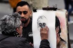 Los artistas de La Rambla (Fnikos) Tags: street people art artist painting drawing portrait rambla larambla outdoor