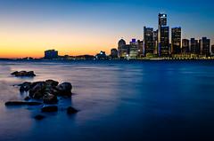 Detroit Renaissance (Neil Cornwall) Tags: 2019 canada detroit detroitriver internationalborder january usa windsor sunset water renaissancecenter sky ontario michigan riverfront cityscape
