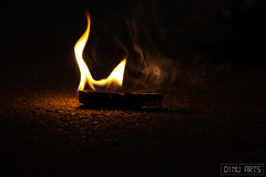 Burning Stick - Coimbatore, Tamil Nadu, India (Dinu Dinesh Kumar) Tags: fire burning stick smoke dinuarts photography india southindia tamilnadu coimbatore indianphotography canon 700d canonphotography