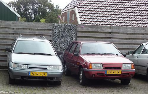 Lada 111 1.5 GTE 16V (VAZ 2111 Лaдa / ВАЗ 2111) & Lada Samara 1.5i Baltic (VAZ 2109 Лада Самара / ВАЗ 2109) ©  peterolthof