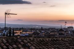 Sunset in Granada (Adrià Páez) Tags: sunset granada cityscape roofs buildings sky clouds city andalucia spain españa europe canon eos 7d mark ii houses