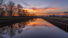 Like Glass (Ian Emerson (Thanks for all the comments and faves) Tags: rivertrent nottinghamshire sawley river trees reflection outdoor sunset canon6d 24105