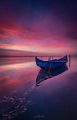 Ria de Aveiro, Portugal (paulosilva3) Tags: sunrise colors lake water blue pink boat lagoon sky canon eos5dmkv manfrotto lowepro progrey filters lee ria de aveiro portugal