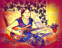 International Womens Day (Rollingstone1) Tags: iwd internationalwomensday holiday woman music guitar bass protest socialist art artwork
