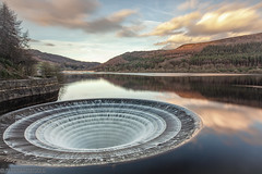 Lady Bower-5 (andyyoung37) Tags: dam ladybowerreservoir peakdistrict waterreflections plughole sunset sunsetreflections theportal