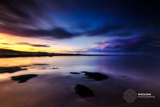 Barns Ness Lighthouse at Sunset