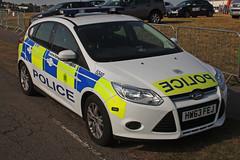 Ford Focus police car (Pentakrom) Tags: farnborough 2014 ford focus police hampshire constabulary hw63fej