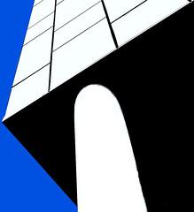 BlackandWhiteand Blue  # 35  ... (c)rebfoto (rebfoto...) Tags: rebfoto blackandwhiteandblue architecture architecturalphotography