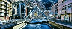 Andorra (Miradortigre) Tags: andorra city pyrinee pirineos montañas mountains ciudad puente bridge andorralavella modern river rio ciutat
