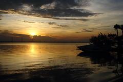 SUNRISE (R. D. SMITH) Tags: sunrise dawn water clouds sun orange florida river reflection canoneos7d