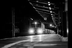 10/365 Night Time Freight (Charlie Little) Tags: night starburst sonya7ii fullframe carlisle citadel station cumbria train railways locomotive deisel class66 freightliner blackandwhite bw mono p365 project365