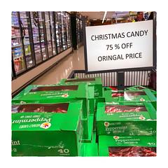 ORINGAL (Timothy Valentine) Tags: spelling clichésaturday tomarket 0119 christmas candy sign 2019 oops whitman massachusetts unitedstatesofamerica us
