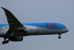 TUI G-TUIK Boeing 787-9 Dreamliner flight BY127 arrival at Manchester MAN England UK from Puerto Vallarta  PVR Mexico (japes10) Tags: tui gtuik boeing 7879 dreamliner flight by127 arrival manchester man england uk from puerto vallarta pvr mexico