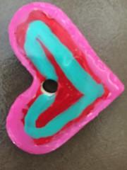 Heart to Heart ... (Mr. Happy Face - Peace :)) Tags: heart pink art2019 craft necklace ceramics alicia karen love flickrfriends closeup macromondays theme