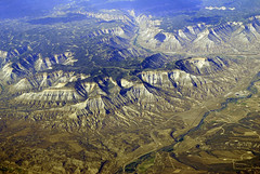 Window Seat: Colorado River & I-70 Interstate Hwy (Infinity & Beyond Photography: Kev Cook) Tags: colorado river i70 interstate highway road mountains landscape parachute window seat plane airplane view