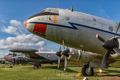 Avro Shackleton MR.3 WR977 & Handley Page Hastings T5 TG517 (@toonaew) Tags: avro shackleton wr977 raf newark air museum handley page hastings tg517