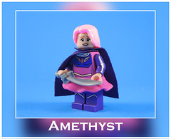 Amethyst (-Metarix-) Tags: lego super hero minifig dc comics comic young justice amethyst custom decal figure bendis showcase rebirth universe