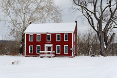 Keepers House (fotofish64) Tags: building architecture house keepershouse red window winterlandscape winter snow freshsnow rural rotterdamjunction rotterdam capitaldistrict schenectadycounty newyork outdoor pentax pentaxart kmount k70 hdpentaxda1685mmlens dwwg
