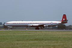XS235 De Havilland DH.106 Comet 4C EGVA 30-07-94 (MarkP51) Tags: xs235 dehavilanddh106comet 4caaeeraf fairfordegvaairshowmilitaryaircraftairplaneplaneimagemarkp51nikonf301kodachrome 64 slide film scan