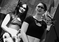 Event Horizon March 2019 039 (byronv2) Tags: music musician woman women makeup stage band krow krowandtheelectrictemple goth gothic punk electro blackandwhite blackwhite bw monochrome dance shorelineofinfinity eventhorizon edinburgh edimbourg scotland frankensteins georgeivbridge