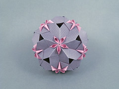 Linda (masha_losk) Tags: kusudama кусудама origamiwork origamiart foliage origami paper paperfolding modularorigami unitorigami модульноеоригами оригами бумага folded symmetry design handmade art