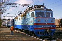 KTZ passenger train (tzhskz) Tags: kazakhstanrailways ktz electric 25kv50hz vl60pk 1893 station apron day light sun