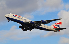 British Airways Boeing 747-400 (Infinity & Beyond Photography: Kev Cook) Tags: aircraft airplane airliner london heathrow airport lhr photos planes british airways boeing 747400 gcivn b747 747