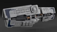 Yutu Class Sensor Cruiser (noblebun) Tags: lego spaceship spacecraft homeworld microscale render blender