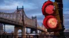 ❤️ (gkilkis) Tags: newyorkphotography street red love heart trafficlight queensboroughbridge bridge newyorkcity nyc newyork