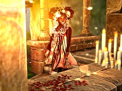 Garden of Souls (platinumthetrinity) Tags: monster girl spooky flowers candle doll cureless skeleton