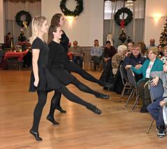 dancing trio high kicks