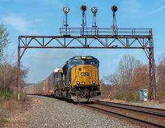 Flying Toward the Future (Chicago Line Railfan) Tags: csxt csx 4705 lake city pa pennsylvania qd103 erie west subdivsion nyc signals