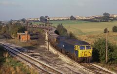56011 Wingerworth. 25/10/1985. (briandean2) Tags: 56011 wingerworth derbyshire derbyshirerailways railways ukrailways ukfreighttrains