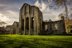 Valle Crucis Abbey / Abaty Glyn y Groes (Niaic) Tags: abbey church ruin ruins old ancient cistercian denbighsire llantysilio history historic past religion building outdoor outdoors vallecrucis wales zeiss loxia zeissloxia2821 grass sky clouds cloud countryside